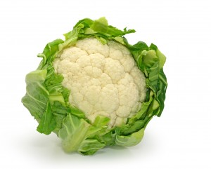 Cauliflower isolated on white background